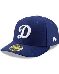 buy popular a47d2 b7a22 KTZ Los Angeles Dodgers White Batting Practice 39thirty Cap in White for Men  - Lyst