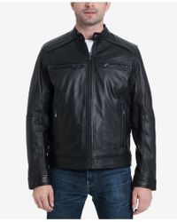 Michael Kors - Perforated Leather Moto Jacket - Lyst