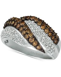 Le Vian - Chocolatier® Diamond Swirl Ring (1-1/8 Ct. T.w.) In 14k White Gold - Lyst