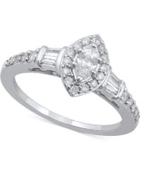Macy's - Diamond Marquise Engagement Ring (3/4 Ct. T.w.) In 14k White Gold - Lyst