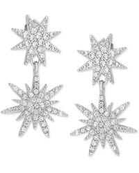 Giani Bernini - Cubic Zirconia Starburst Drop Earrings In Sterling Silver, Created For Macy's - Lyst