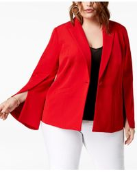 INC International Concepts - I.n.c. Plus Size Split-sleeve Blazer, Created For Macy's - Lyst