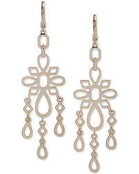 Ivanka Trump - Gold-tone Openwork Chandelier Earrings - Lyst