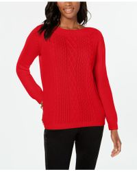 Tommy Hilfiger - Cable-knit Sweater, Created For Macy's - Lyst