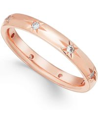 Marchesa - Diamond Band In 18k Rose Gold (1/8 Ct T.w.) - Lyst