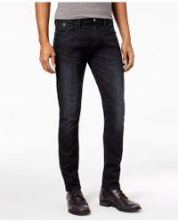 Guess - Men's Liberty Black Skinny Jeans - Lyst