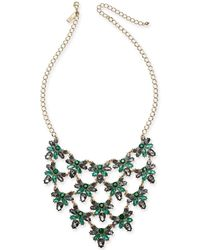 """INC International Concepts - I.n.c. Gold-tone Crystal Cluster Statement Necklace, 18"""" + 3"""" Extender, Created For Macy's - Lyst"""