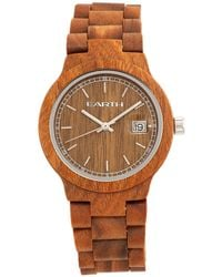 Earth Wood - Biscayne Wood Bracelet Watch W/date Olive 38mm - Lyst