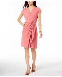 Charter Club | Draped Faux-wrap Dress | Lyst