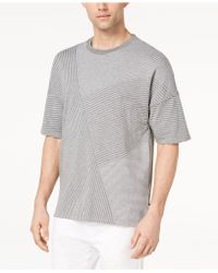 CALVIN KLEIN 205W39NYC - Drop-shoulder Pieced Stripe T-shirt - Lyst