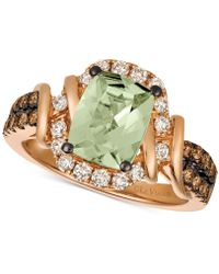 Le Vian - Chocolate & Nudetm Mint Julep Quartztm (1-3/4 Ct. T.w.) & Diamond (5/8 Ct. T.w.) Ring In 14k Rose Gold - Lyst