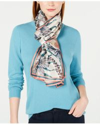 Vince Camuto - Painterly Floral Silk Scarf - Lyst