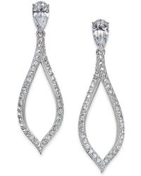 Danori - Silver-tone Pavé Drop Earrings - Lyst