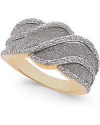 Macy's - Diamond Glitter Wave Ring (1/4 Ct. T.w.) In 18k Gold-plated Sterling Silver - Lyst