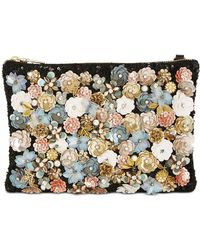Steve Madden | Aloha Small Pouch With Floral Appliqué | Lyst