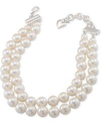 Carolee | Silver-tone Imitation Pearl Adjustable Choker Necklace | Lyst