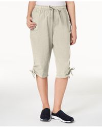 Karen Scott - Petite Cotton Ruched Skimmer Shorts, Created For Macy's - Lyst