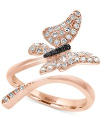 Effy Collection - Diamond Butterfly Ring (3/8 Ct. T.w.) In 14k Rose Gold - Lyst