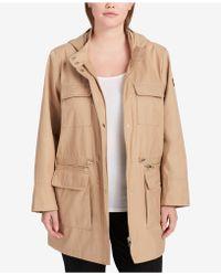 DKNY - Plus Size Cinched-waist Raincoat - Lyst