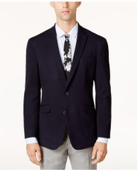 Kenneth Cole Reaction - Men's Slim-fit Navy Dot-pattern Sport Coat - Lyst