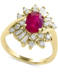 Effy Collection - Certified Ruby (1-3/8 Ct. T.w.) And Diamond (5/8 Ct. T.w.) Ring In 14k Gold - Lyst