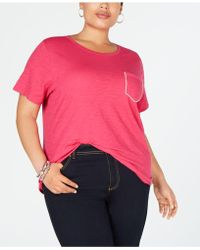 bed4697b23a INC International Concepts - I.n.c. Plus Size Rhinestone-pocket T-shirt
