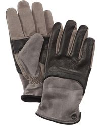 Timberland | Men's Leather & Waxed Canvas Gloves | Lyst