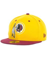 new style d452a f0367 KTZ Washington Redskins State Flective Redux 59fifty Cap in Black for Men -  Lyst