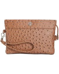 Giani Bernini | Ostrich Embossed Crossbody Wallet, Created For Macy's | Lyst