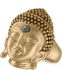 RACHEL Rachel Roy - Gold-tone Pavé Buddha Ring - Lyst