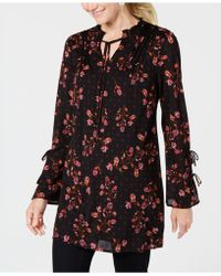 Style & Co. - Printed Split-neck Tunic Top, Created For Macy's - Lyst