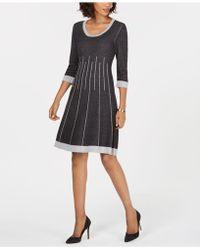 Nine West - Striped Sweater Dress - Lyst