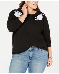 Style & Co. - Plus Size Embroidered Sweatshirt, Created For Macy's - Lyst
