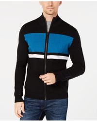 Calvin Klein - Colorblocked Striped Milano Cardigan - Lyst