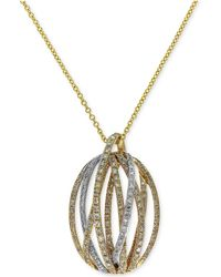 Effy Collection - Diamond Pendant Necklace (5/8 Ct. T.w.) In 14k Gold And White Gold - Lyst