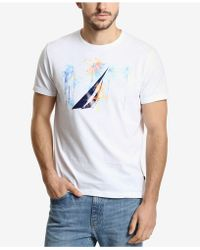 3d8aa6f7c4 Lyst - Denim   Supply Ralph Lauren Watercolor Graphic Tee in White ...