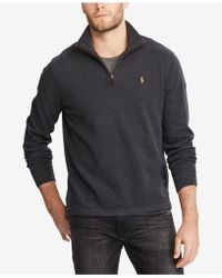 Polo ralph lauren Estate-rib Cotton Pullover in Black for Men | Lyst