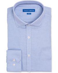 Vince Camuto - Slim-fit Comfort Stretch Mini Check Dress Shirt - Lyst