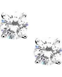 Giani Bernini - Sterling Silver Cubic Zirconia Stud Earrings (2 Ct. T.w.) - Lyst