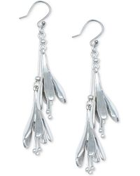 Lucky Brand - Silver-tone Tulip Tiered Drop Earrings - Lyst