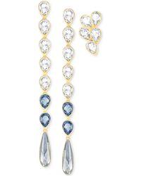 Swarovski - Gold-tone 3-pc. Set Blue & Clear Crystal Drop Earrings - Lyst