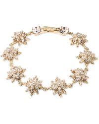 Marchesa - Faux Pearl Studded Floral Bracelet - Lyst
