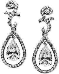 Arabella - Sterling Silver Earrings, Swarovski Zirconia Teardrop Earrings (9 Ct. T.w.) - Lyst