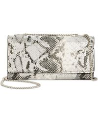 INC International Concepts - I.n.c. Glam Metallic Python-embossed Crossbody Wallet, Created For Macy's - Lyst