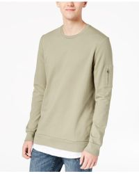 American Rag   Lightweight Contrast-inset Sweatshirt, Created For Macy's   Lyst