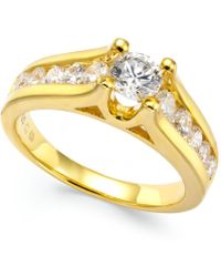 Macy's - Certified Diamond Channel Engagement Ring In 14k White Gold (1 Ct. T.w.) - Lyst
