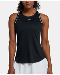 5192e91d461f9b Lyst - Nike Dry Miler Cropped Running Tank Top in Black