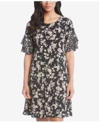 Karen Kane - Floral-print Ruffle-sleeve Dress - Lyst