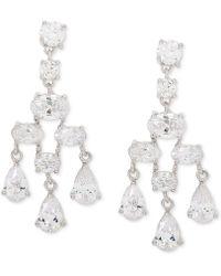 Giani Bernini - Cubic Zirconia Chandelier Drop Earrings In Sterling Silver, Created For Macy's - Lyst