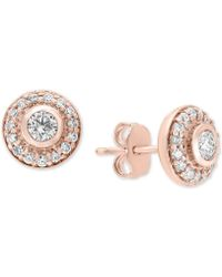 Effy Collection - Pavé Classica Diamond Halo Stud Earrings (5/8 Ct. T.w.) - Lyst